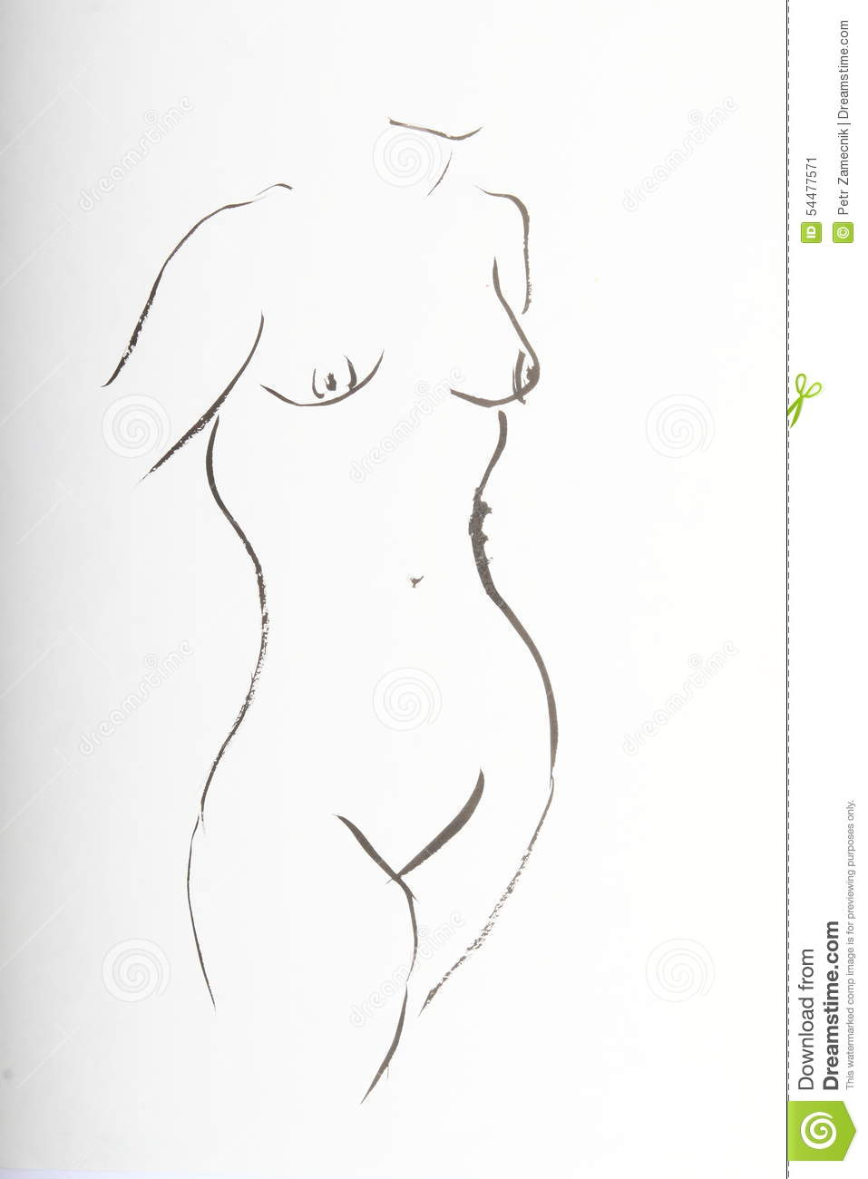 Naked girls to draw