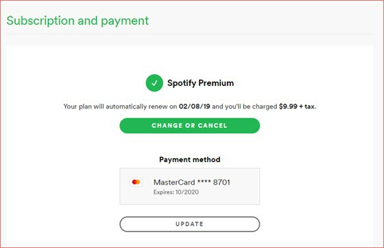 How to pay for spotify premium
