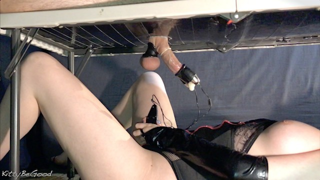 Cock tease milking dom