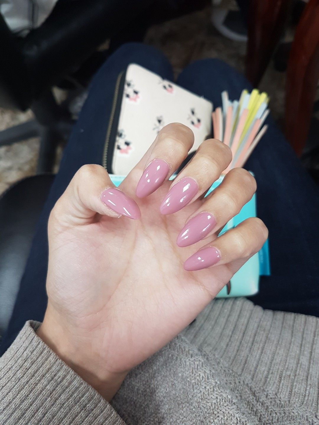 Long nails tickle