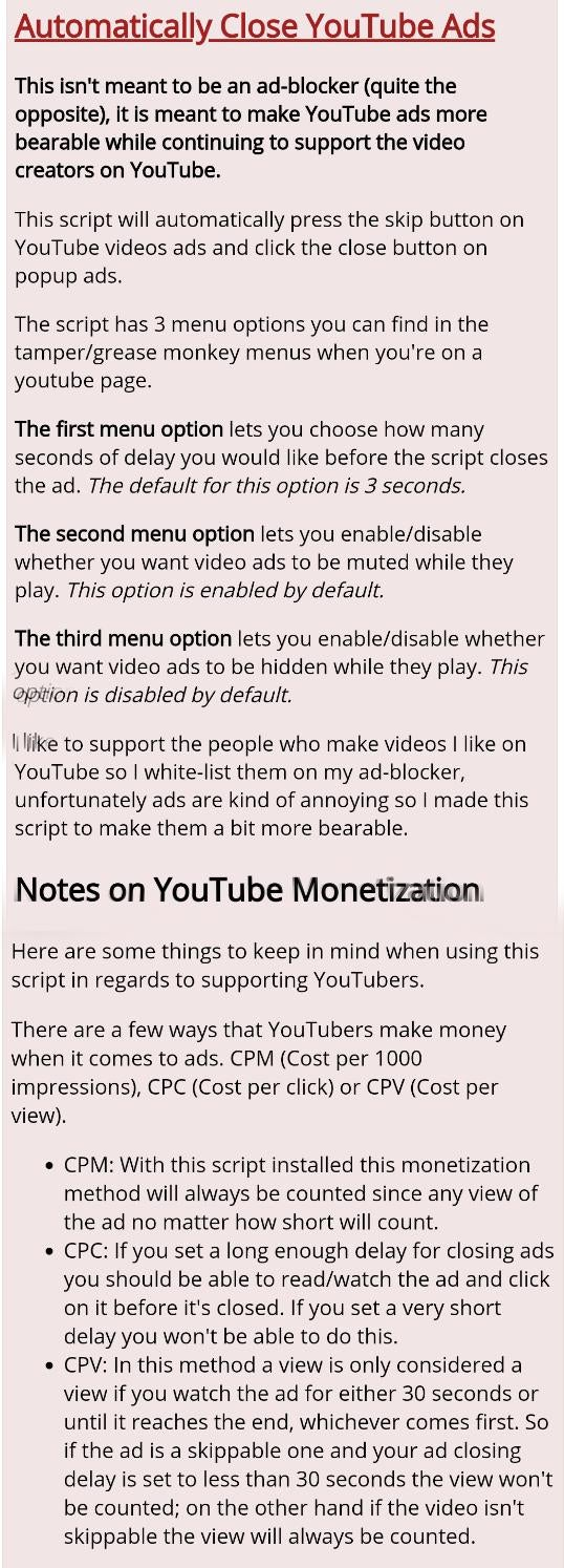 Youtube ads support